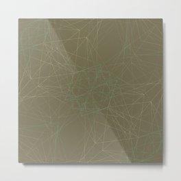 LIGHT LINES ENSEMBLE MARTINI OLIVE-1 Metal Print