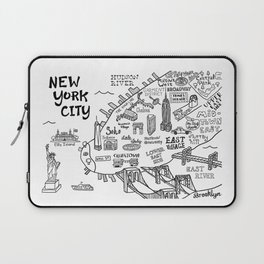 New York City Map Laptop Sleeve