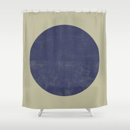 Black and Gold Circle 09 Shower Curtain