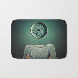 clock head Bath Mat