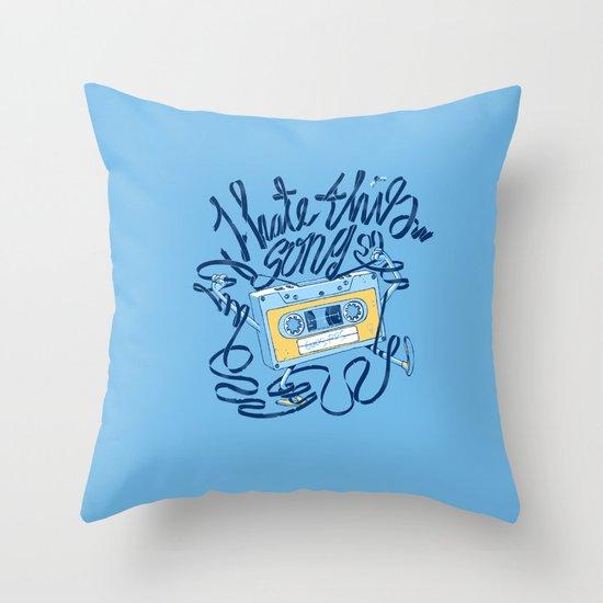 Sad song Throw Pillow