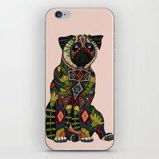 pug love pale dogwood iPhone & iPod Skin