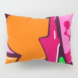 In the street No3 Orange Graffiti Pillow Sham