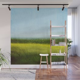 Abstract landscape: Rapeseed fields in early summer Wall Mural