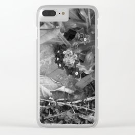 Black Buzzy Clear iPhone Case