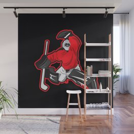 illustration of ice hockey goalie Wall Mural