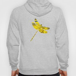 Gold Waves Abstract Art Hoody