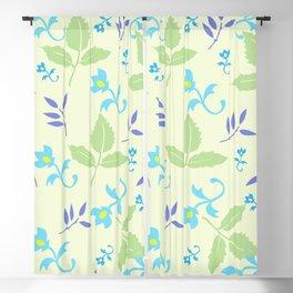 Tulips Sky and Cornflower Blue Blackout Curtain