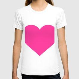 Heart (Dark Pink & White) T-shirt