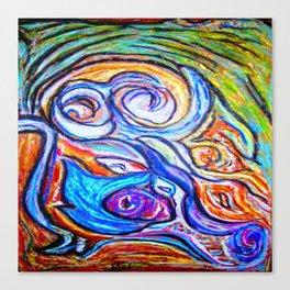 Sur ma boite en bois de pastels Canvas Print