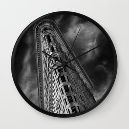 Flat Iron Monochrome Wall Clock
