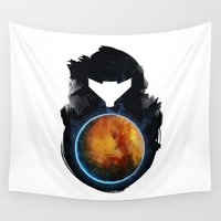 metroid Wall Tapestries featuring Metroid Prime by Ian Wilding