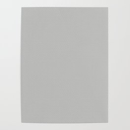 White & Grey Simulated Carbon Fiber Poster