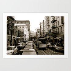 San Francisco Street B&W Art Print