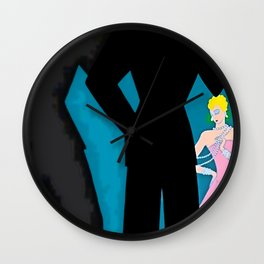 """Art Deco Illustration """"Cocktail Party"""" by Erté Wall Clock"""
