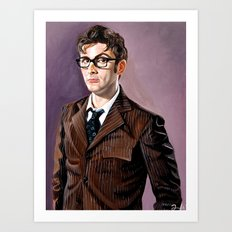 The Tenth Doctor Art Print