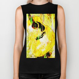 Abstract Guitar Biker Tank