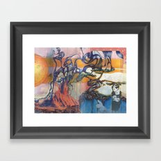 The Easter Bunny Ate My Brother Framed Art Print