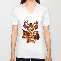 heavy metal V-neck T-shirts featuring Heavy Metal by Lindsay Spillsbury