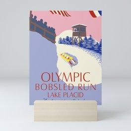 Lake Placid Olympic bobsled run Mini Art Print