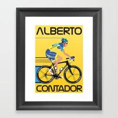 Alberto Contador Framed Art Print
