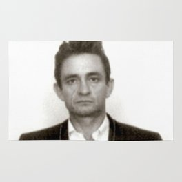 Johnny Cash Mugshot Rug