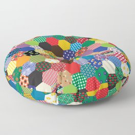 Hexagonal Patchwork Floor Pillow