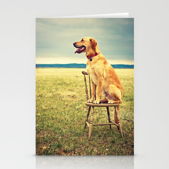 DogOnChair Stationery Cards