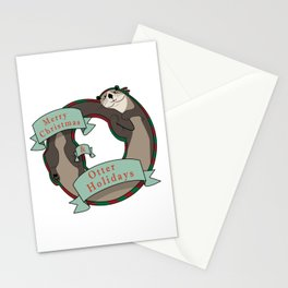 And Otter Holidays Stationery Cards
