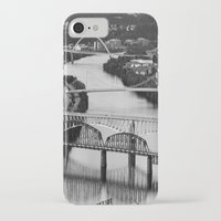 pittsburgh iPhone & iPod Cases featuring Pittsburgh bridges by Jaclyn Scott
