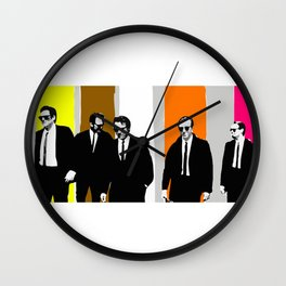 reservoir dogs, tarantino Wall Clock
