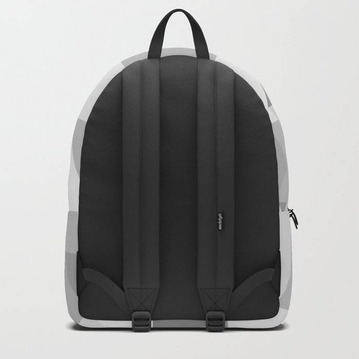 Triangle Abstract Gray Background Backpack