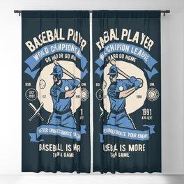 BASEBALL PLAYER - World Champion League. Blackout Curtain