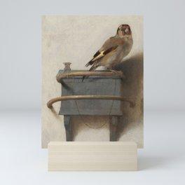 THE GOLDFINCH - CAREL FABRITIUS Mini Art Print