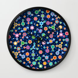 Hydrocarbons in Space Wall Clock