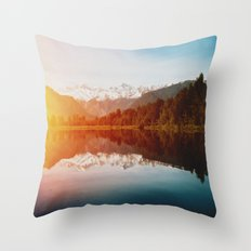 Lake Matheson Throw Pillow