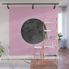 BLACK MOON + PINK SKY Wall Mural