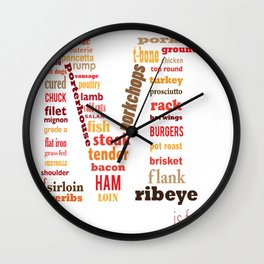 M is for Meat Wall Clock