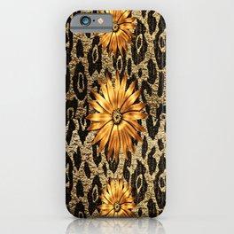 Animal Print Cheetah Triple Gold iPhone Case
