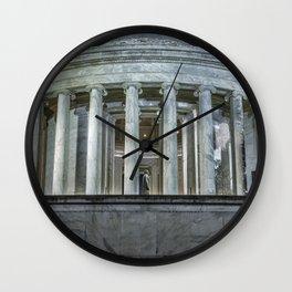 Jefferson Memorial - Side View Wall Clock