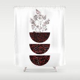 Red Balance Shower Curtain