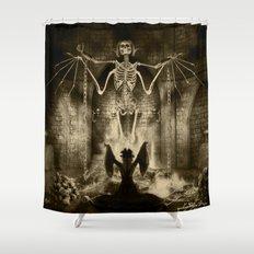 Dark Victorian Portrait Series: Lady Charlotte Nightshade, Her Majesty's Necromancer Shower Curtain