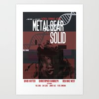 metal gear solid Art Prints featuring Solid - Metal Gear by TomStreetArt