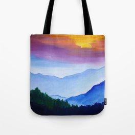 Smokey Mountain Sunset Tote Bag