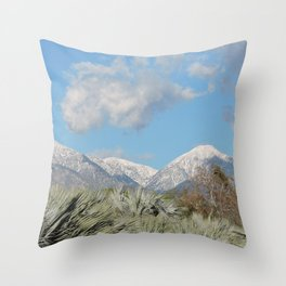 From Chaparral To Snow Throw Pillow