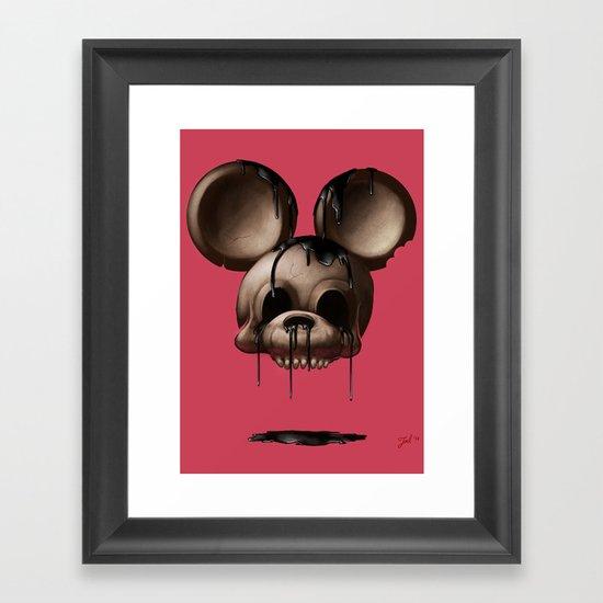 Mickey 1: Chocolate Framed Art Print