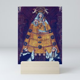 Cusco School Our Lady of the Rosary with Saint Dominic and Saint Rose Mini Art Print
