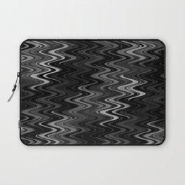 WAVY #2 (Black & Grays) Laptop Sleeve