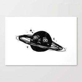 Graphic: sad planet Canvas Print