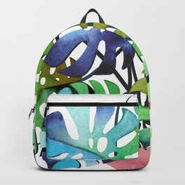 Watercolor Monstera Or One Fine Swiss Cheese Plant Backpack